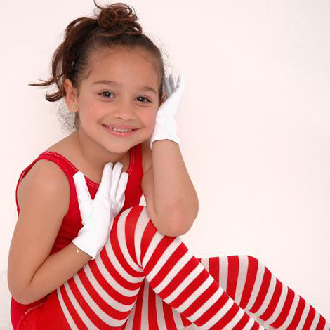 Little Girl Red Tights